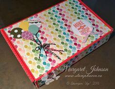 Repurposed Paper Pumpkin box (outside) - Margaret Johnson