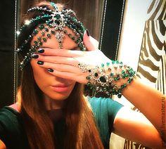 Купить Браслет Emerald - браслет на руку, изумрудный, стильное украшение, Модное украшение, стильное колье