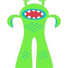 Green aquatic monster