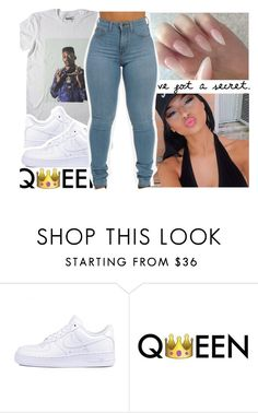 """It's whatever☺"" by purplequeen04 ❤ liked on Polyvore featuring Kane and NIKE"
