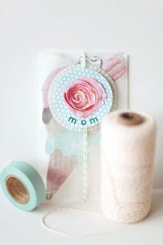 Love it...washi tape and bakers twine!!
