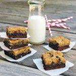 this weeks recipe: chocolate chip cookie brownies