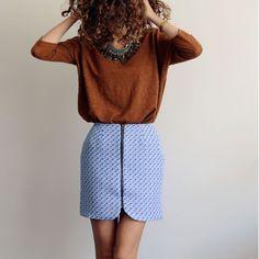 Patron de couture pdf SISTER MINI - du 32 au 48 - Mini jupe zippée | Vanessa…