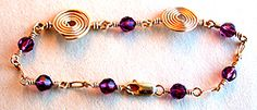 Dual Spiral Bracelet Jewelry Making Project Made with Amethyst Beads - #wigjig