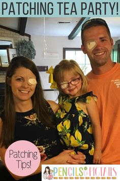 When our daughter was 2, we found out that she has amblyopia and would need to start patching. I'm sharing how we kicked off our journey with a patching tea party, made her comfortable, found the best patches, and celebrated her accomplishments! #amblyopia #eyepatch #patching #glasses #patchingideas