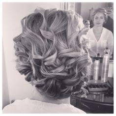 Updo, curls, romantic hair, Primp by Christina Irene