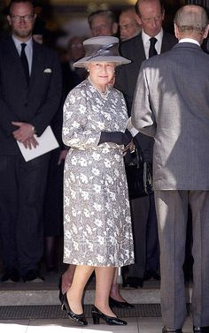The Queen & Prince Philip At St Margaret's Church, Westminster Abbey for a service of thanksgiving for the life of Lord Charteris of Amisfield - former Private Secretary & Lord-in-waiting to The Queen. 2000