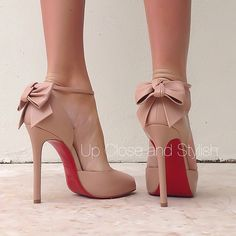 Take a bow! #Louboutin open toe 'Dos Noeud' 120mm. - @upcloseandstylish- #webstagram