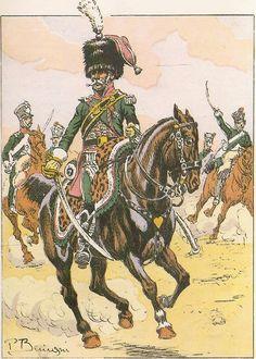 French; 7th Chasseurs a Cheval, Chef d'Escadron, Grande Tenue, 1805-06