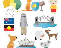 Australian Clip Art Set - Commercial and Personal Use
