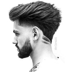 barber beard bearded ink tat barbershop barbers trim shave cut blade hair tattoo mensfashion men menshair male alpha style trendy trend Reposted from Hairstyles Haircuts, Haircuts For Men, Cool Hairstyles, Hair And Beard Styles, Curly Hair Styles, Pelo Hipster, Mens Hair Colour, Hair Shaver, Nose Hair Trimmer