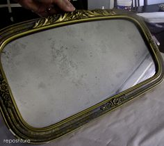 turn regular glass into a vintage looking mirror