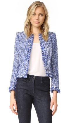 alice + olivia Kidman Frayed Hem Box Jacket size - xs  $440