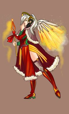 Mercy Christmas Skin Concept by FluffleArts | SO excited for ...