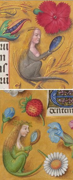 Medieval Micemaidens: 1510-20, J. Paul Getty Museum (top). About 1497, British Library (bottom)