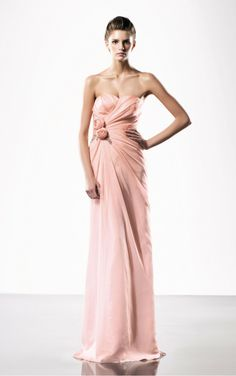 Elegant Pink Sheath Floor-length Sweetheart Dress [Dresses 10115] - $173.00 :