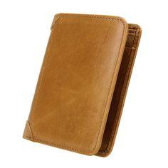 100% Genuine Leather Men Wallet Coin Cash Purse Vintage Design Short Small Wallets Male Burse Card Holder Carteras de Cuero