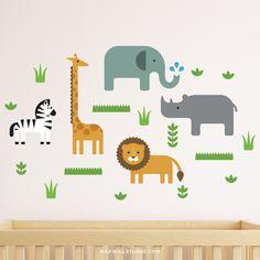 Safari Animal Wall Decals