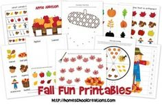 FREE Fall Fun Printables