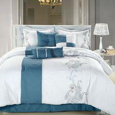 Kuvahaun tulos haulle teal and white bedding sets