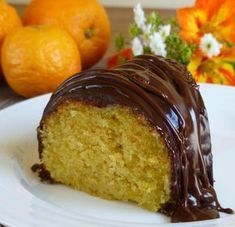 Orange Cake with Chocolate Glaze. Orange Cake with Creme Fraiche and Bittersweet Chocolate Glaze - a perfect easy easy dessert for Father's Day. Food Cakes, Cupcake Cakes, Cupcakes, Easy Desserts, Delicious Desserts, Chocolate Glaze Recipes, Chocolate Drizzle, Cake Recipes, Dessert Recipes