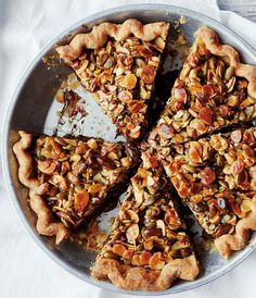 Candy Bar Pie | This pie is a nut-lover's dream. Use any combination of your favorite nuts here, such as pecans, cashews, hazelnuts or macadamia nuts.
