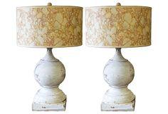 19th-C. Finial Lamps, Pair on OneKingsLane.com