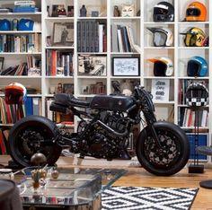 Cafe Racer by Suzuki Cafe Racer, Cafe Racers, Bobber, Retro Bikes, Chopper, Motorcycle Design, Motorcycle Helmets, Dr 650, Harley Davidson
