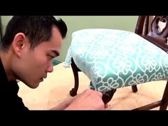 DIY: $10 Reupholster Chairs - YouTube