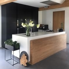 A stunning kitchen by @livingatno.50. Ferm Living plant box available at www.istome.co.uk