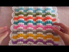 Crochet motif for tunic blouse How to join motifs Part 2 - Crochet Amigurumi Crochet Cowel, Crochet Motif, Crochet Stitches, Crochet Baby, Free Crochet, Crochet Patterns, Granny Stripes, Granny Squares, Crochet Blanket Tutorial