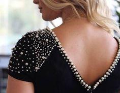 Resultado de imagem para bordado de blusas con perlas y tachas