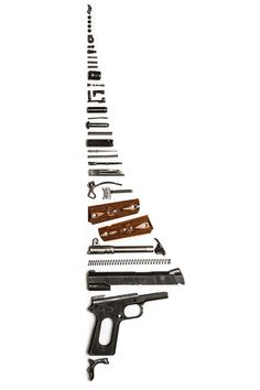 1911 pistol stripped and sorted, cool pic, huh? @Thomas Marban Marban Haight's Outdoor Superstore