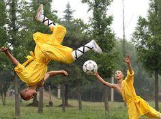 Soccer -- Shaolin monk style!