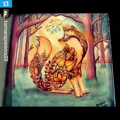 By Tamara Pereira Coloring Book Art, Colouring Pages, Adult Coloring, Enchanted Forest Book, Enchanted Forest Coloring Book, Johanna Basford Books, Johanna Basford Coloring Book, The Secret Garden, Colored Pencil Techniques