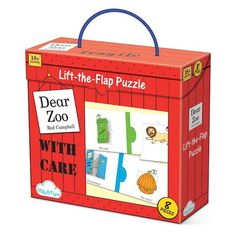Bring the classic tale of Dear Zoo to life with this Dear Zoo Lift The Flap Puzzle. A fab gift with 8 colourful puzzles that boys age 2 will love to do.