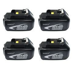 Makita 18V Battery, SANCC 18-Volt 4.0 ah LXT Lithium-Ion Battery for Makita BL1850 BL1840 BL1830 LXT-400 194204-5 Cordless Power Tools, 4Pack -- Awesome products selected by Anna Churchill