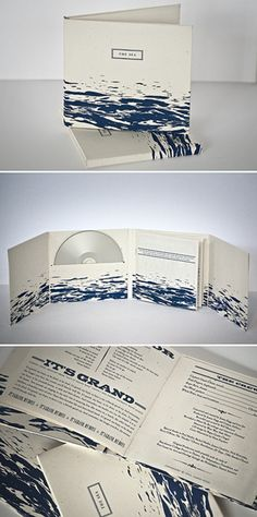 SIRE PRESS - Short run #CD duplication | Custom one color screen printed 8 panel CD case, hand assembled.