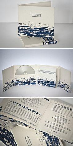 SIRE PRESS - Short run #CD duplication | Custom one color screen printed 8 panel CD case, hand assembled.