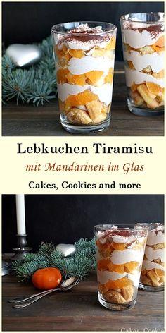 Dessert aus dem Glas - Rezept für Lebkuchen Tiramisu mit Mandarinen