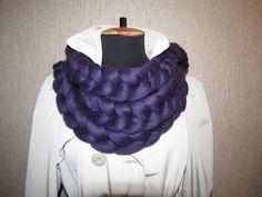Chunky infinity scarf, crochet knit scarves, Super chunky bulky scarfs, Knitted cowl, knitting, extreme knitting Merino, chunky yarn,