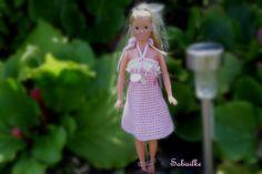 Puppenkleidung - Minikleid mit Pailetten ***  für Barbie *** rosa - ein Designerstück von Sabisilke bei DaWanda