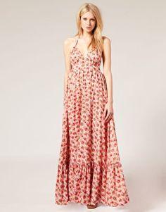 Grosgrain Strap Maxi Dress
