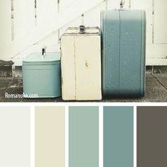 Color palette { vintage luggage }