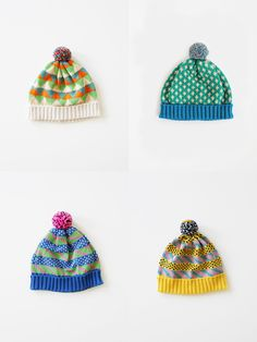 knitted bobble hats