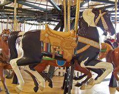 Davis Mercantile Carousel, 1906 Dentzel Carousel, all new animals carved by Al Bontrager, painted by Cheryl Kellett