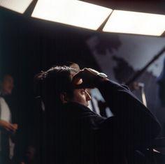 keyframedaily:  Kubrick on the set of Dr. Strangelove (1964).