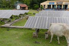 Off-grid solar power station in West Bengal