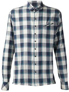 Baja East Distressed Flannel Shirt - Hu's Wear - Farfetch.com