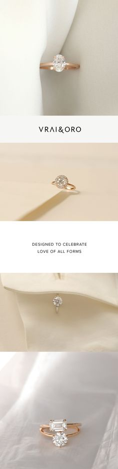 Diamond Engagement Rings from Vrai and Oro Wedding (VOW)